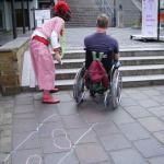 Die Martinitreppe in Minden zwingt viele Menschen mit und ohne Behinderung zu Umwegen.